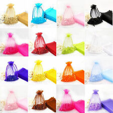 50Pcs Organza Jewelry Packing Pouch Wedding Party Favour Candy Gift Bag Craft