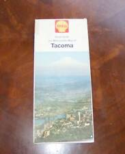 Vintage Shell Tacoma Washington Street Guide & Metropolitan Map
