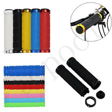 Bicycle MTB Grips Fixie Lock-on Fixed Gear Grips Rubber Bike Handlebar Grip Sets