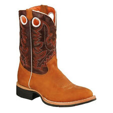 Mens Tan Rodeo Collection Western Leather Boots BONANZA 4002 Size 6-12 (D, M)