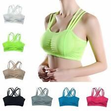 Women Seamless Racerback Sports Bra Yoga Fitness Bra Gym Jogging Tank Comfort