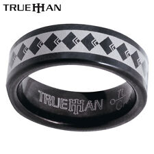 New Black Bee Tungsten Band Trueman Carbide Mens Ring Size 8.25-13.25