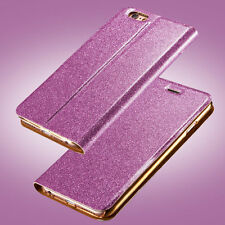 New Bling Luxury Leather Magnetic Flip Card Wallet Cover Case For iPhone/Samsung