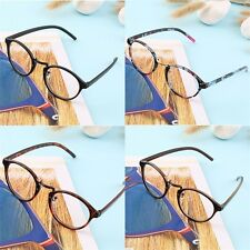 Retro Geek Vintage Nerd Large Frame Fashion Round Clear Lens Glasses FJ