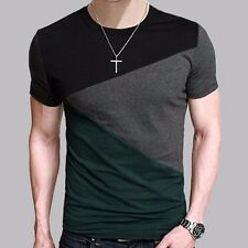 T shirt men short sleeve Casual Tee Tops O-Neck Slim fit Free Shipping! SALE!