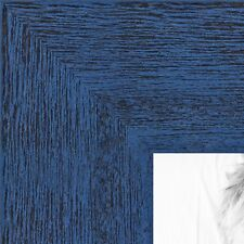 ArtToFrames 1.5 Inch Blue Rustic Wood Picture Poster Frame 83235