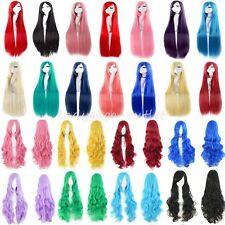 Women Cosplay Hair Wig Long Straight Wavy Curly Anime Halloween Costume Full Wig