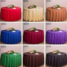 1PCS Round Candy Color Tablecloth Home Wedding Table Cover Party Tablecloth