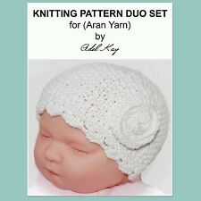 KNITTING PATTERN  Easy Vintage Beanie Baby Premature Aran Yarn Reborn Doll Hat