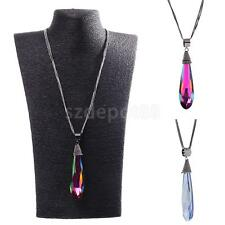 Women Water Drop Pendant Long Chain Necklace Sweater Statement Vintage Jewelry