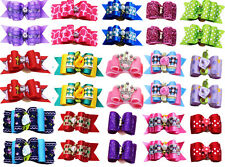20pc Pair Pet Dog Hair Bows Mix Crown Pet Dog Grooming  Bows Dog Hair Accessorie