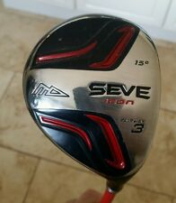 SUPERB MD SEVE ICON 3 FAIRWAY WOOD, 15' LOFT, RIGHT HANDED, PLUS HEAD COVER