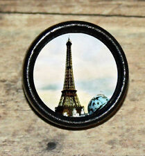 Victorian Paris EIFFEL TOWER Altered Art Tie Tack or Ring or Brooch pin