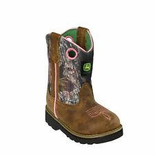 John Deere JD1246 Baby's Brown Johnny Popper Wellington Boots - New With Box