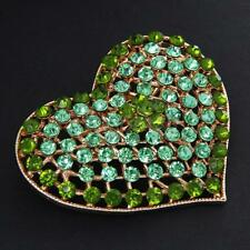 New Crystal Rhinestone Love Hearts Brooch Pins Jewelry