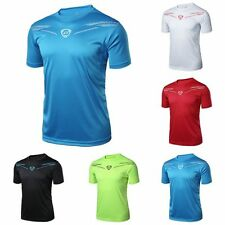 New Mens Quick Dry Workout Fitness T-Shirt Muscle Gym Running Body Building Tops
