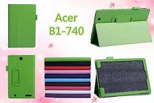 """PU Leather Stand Folio Case Cover Protector Skin FOR Acer Iconia One 7 B1-740 7"""""""