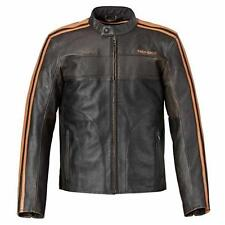 Triumph Restore Retro Men's Leather Motorcycle Jacket Brown MLHS16501