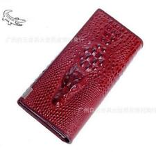 Luxurious Crocodile Design Genuine Leather Women Long Wallet Lady Phone Purse