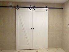 7.5FT/2300mm diamon  Hardware Wood Sliding  Track Barn Door Hardware  Black Kit