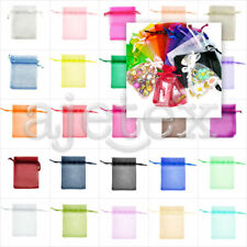 20pcs 6Size Wedding Gift Pouches Rectangle Premium Organza Jewellery Bags