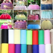 "6""x 25yd Tulle Roll Spool Tutu Wedding Party Gift Fabric Craft Decorations Hot"