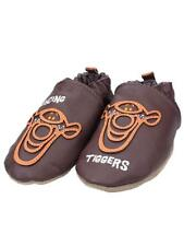 Robeez Bouncing TIgger Crib Shoes 6-12 Months 6m 9m 12m Brown Leather NEW Baby