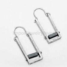 European and American Fashion Jewelry Rectangular Alloy Vintage Dangle Earrings