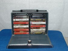 VINYL CASSETTE CARRYING CASE WITH TEN CLASSICAL TAPES