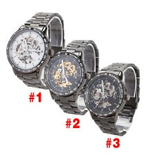 Man Mechanical Wrist Watch Full Auto Stainless Steel Watchband Unique