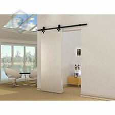 15FT diamond  Barn Door Hardware  Sliding  Track  Hardware Wood  Black Kit