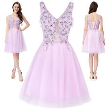Formal Tulle Netting Bridesmaid Ball Evening Prom Party Dress Short Wedding Mini