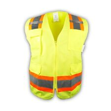 Surveyor Lime Two Tones Safety Vest , ANSI/ ISEA 107-2015/ Photo ID Pocket