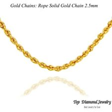 New Sale14K Solid Yellow Gold Italy Hollow Rope Chain Twist Link Necklace 2.5 mm
