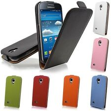 Luxury Genuine Leather Flip Case Ultra Slim Cover f Samsung Galaxy S4 i9500 S IV
