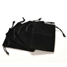 Vogue Jewelry Bag Black Velvet Necklace Ring Earrings Storage Bag Display Bages6