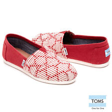 TOMS RED WOMEN'S CLASSIC SHOES. Style # 10008027