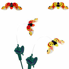 Solar Yellow or Red Ladybug for Garden Plants Flowers / Patio Landscape Decor