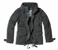 BRANDIT PLATINUM VINTAGE JACKET CLASSIC MENS MILITARY STYLE PARKA BLACK COAT