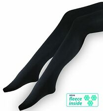 3 Thermal Ladies Tights - knit tights with softfleece inside - warm and opaque