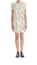 Alexander McQueen Ivory Printed  Obsession Dress  (Authentic & New) Size 40, 42