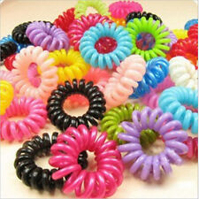 10X lots Spiral Slinky Elastic Rubber Tie Wire Coil Hair Bands Rope Ponytail