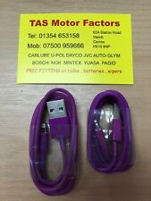 Data Sync & Charger USB Cable For iPhone 6S 55C 5S SE iPad 4 Air Purple Pair