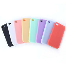 High Quality TPU Silicone Rubber Sherbet Back Soft Cover Case For iPhone 4 4G/4S