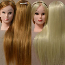 18 Inches Wig Woman Head Mannequin Hair Dressing Training Tool Eager