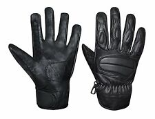 Prime Men's Real Genuine Leather Motorcycle Racing Knuckle Protection Gloves