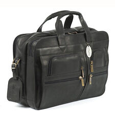 Claire Chase Cowhide Leather Executive Computer Briefcase
