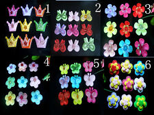 50pcs pet dog hair bows clips/rubber bands pet grooming hair bows accessorie