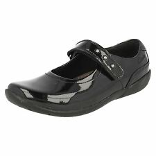 Girls Clarks Black Patent School Shoes Leather The Style ~ K