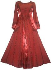 430628 DR Agan Traders Gothic Embroidered Corset Long Renaissance Dress ~ India
